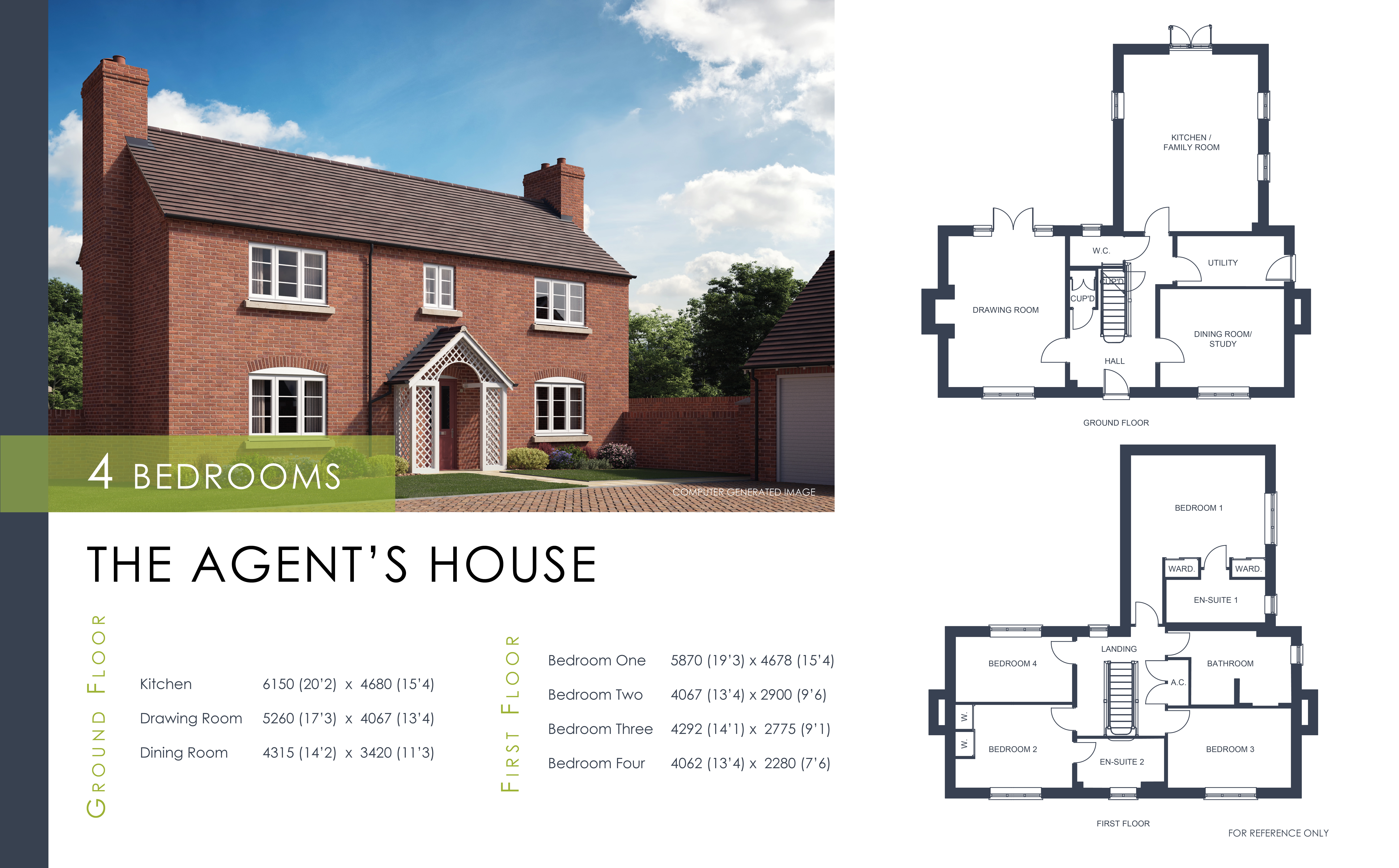 The Agent's House Floor Plan Shropshire Homes